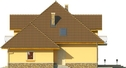 Projekt domu Meritum 3 - elewacja boczna 2