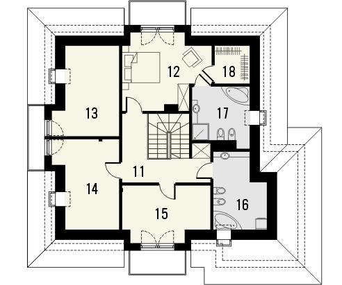Projekt domu Meritum 3 - rzut poddasza