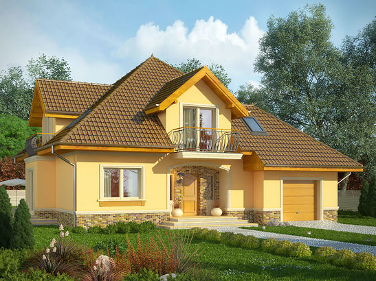 Projekt domu Meritum 3 - widok 1