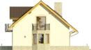 Projekt domu Wicher - elewacja boczna 1