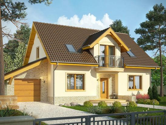 Projekt domu Wicher - widok 1