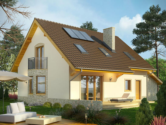 Projekt domu Wicher - widok 2