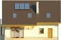Projekt domu Wicher 2 - elewacja tylna