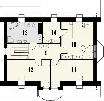 Projekt domu Wicher 2 - rzut poddasza