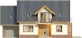 Projekt domu Komfort - elewacja przednia