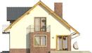Projekt domu Komfort - elewacja boczna 1