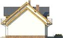 Projekt domu Pryzmat - elewacja boczna 2