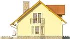 Projekt domu Frykas - elewacja boczna 1