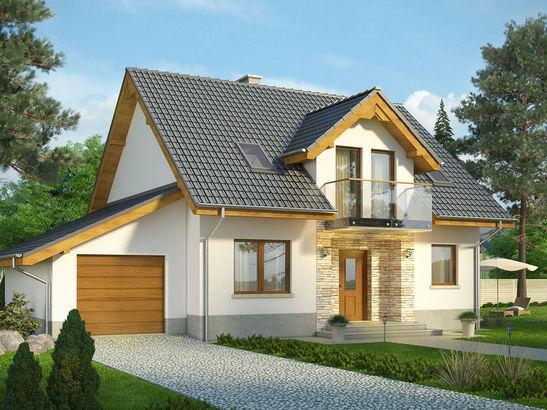 Projekt domu Kolia - widok 1