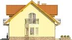 Projekt domu Sosna - elewacja boczna 1