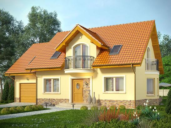 Projekt domu Sosna - widok 1