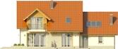 Projekt domu Jodła 2G - elewacja tylna