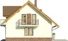 Projekt domu Natura - elewacja boczna 1