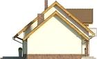 Projekt domu Natura - elewacja boczna 2