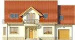 Projekt domu Czereśnia - elewacja przednia