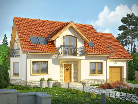 Projekt domu Czereśnia - widok 1
