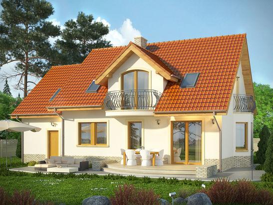 Projekt domu Czereśnia - widok 2
