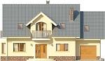Projekt domu Akacja - elewacja przednia