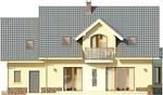 Projekt domu Akacja - elewacja tylna