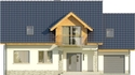 Projekt domu Wierzba - elewacja przednia