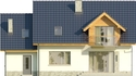Projekt domu Wierzba - elewacja tylna