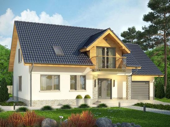 Projekt domu Wierzba - widok 2