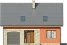 Projekt domu Etno - elewacja przednia