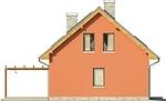 Projekt domu Etno - elewacja boczna 1