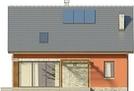Projekt domu Etno - elewacja tylna