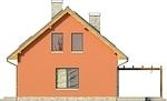 Projekt domu Etno - elewacja boczna 2