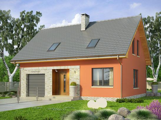 Projekt domu Etno - widok 2