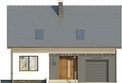 Projekt domu Lotos - elewacja przednia