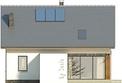 Projekt domu Lotos - elewacja tylna