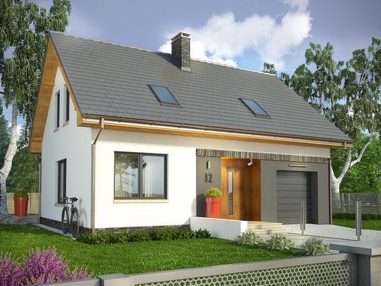 Projekt domu Lotos - widok 2