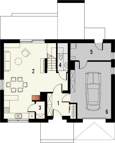 Projekt domu Relaks - rzut parteru