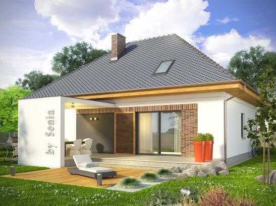 Projekt domu Relaks - widok 1