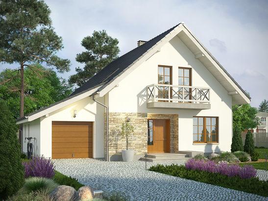 Projekt domu Bielinek - widok 2