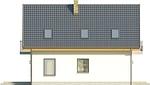 Projekt domu Joga - elewacja boczna 1