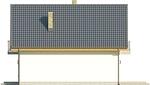 Projekt domu Joga - elewacja boczna 2