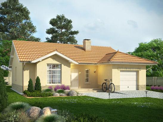 Projekt domu Floryda - widok 1