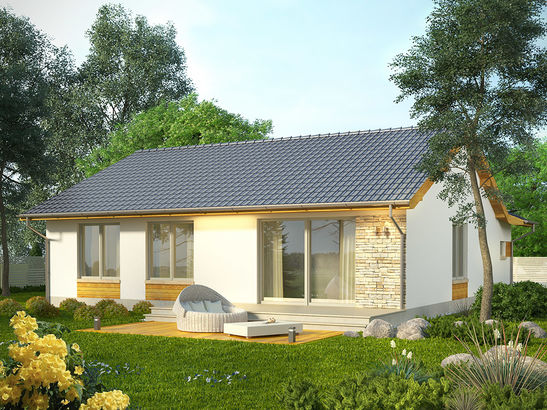 Projekt domu Hibiskus - widok 2