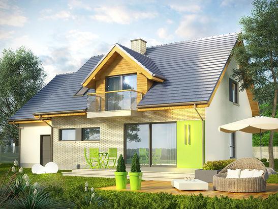Projekt domu Kiwi - widok 1
