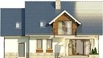 Projekt domu Wanilia - elewacja tylna