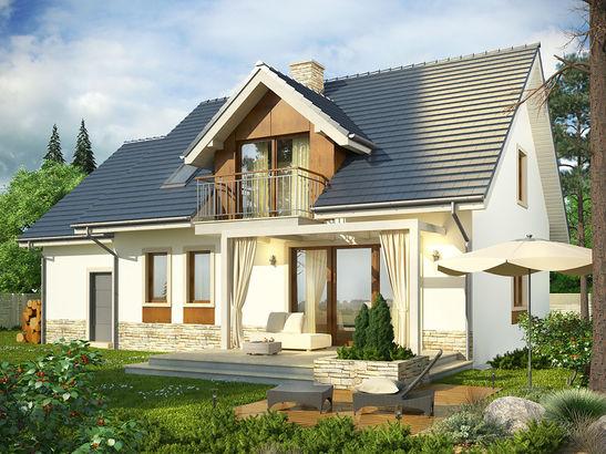 Projekt domu Wanilia - widok 3