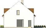 Projekt domu Aviator  - elewacja boczna 2