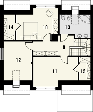 Projekt domu Aviator 4 - rzut poddasza