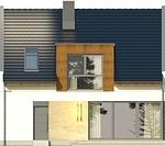 Projekt domu Aviator 6 - elewacja boczna 1