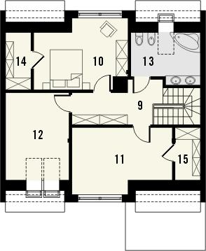 Projekt domu Aviator 6 - rzut poddasza
