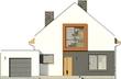 Projekt domu Pionier - elewacja przednia