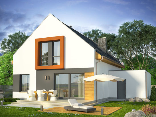 Projekt domu Pionier - widok 2
